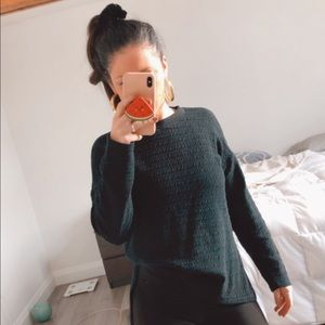 Zara Quilted Black Jumper